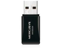 Mercusys bežični USB mini adapter 300Mbps (2.4GHz), 802.11n/g/b, WPS tipka