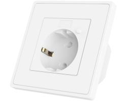 WOOX WiFi Smart zidna utičnica, 250VAC 10A 2300W, Tuya smart app, glasovna kontrola - Alexa & Google Assistant, Wi-Fi kontrola, Timer/Schedule postavke
