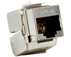 Roline Cat.6/ClassE STP Keystone jack, RJ-45, tool-free, silver