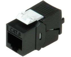 Roline Keystone Cat.6/7 Class E (RJ-45) black - patch module for 26.11.0357