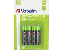Verbatim AAA punjive baterije, 960 mAh (4 komada)