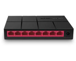 Mercusys 8-port Gigabit mini Desktop preklopnik (Switch), 8×10/100/1000M RJ45 ports, plastično kućište