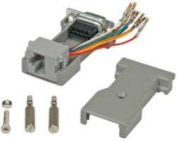 Roline adapter DB9F - RJ45F 8P/8C, 8-žica