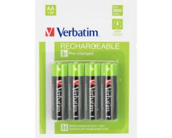 Verbatim AA punjive baterije, 2600 mAh (4 komada)