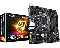 Gigabyte MB B365M DS3H, B365, S.1151, DDR4/2666, PCIe, SATA3, M.2, RAID, G-LAN, VGA/DVI-D/HDMI, USB3.1, 7.1ch., mATX
