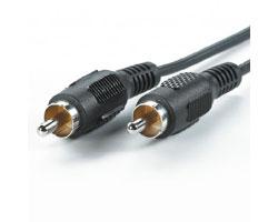 Roline VALUE Chinch kabel, 1×chinch M/M, 5.0m